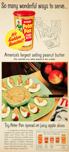 1954 Ad Derby Peter Pan Peanut Butter Food Grocery Apple Slices Fruit YBL1
