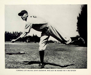1941 Print Cliff Melton New York Giants Pitcher Baseball Player Historic YBM1