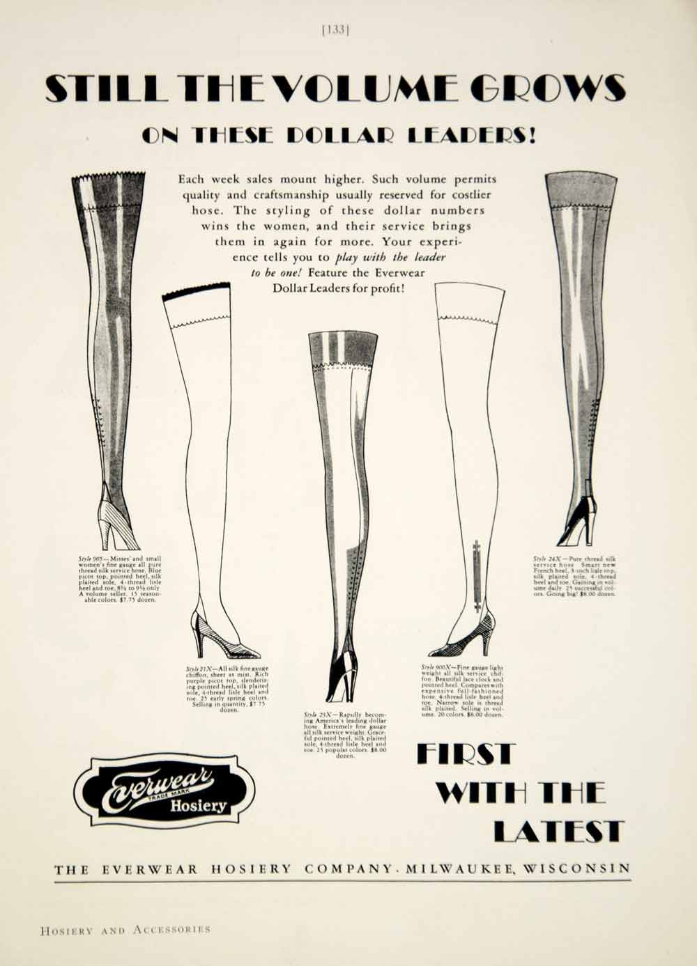 1929 Ad Womens Fashion Everwear Hosiery Accessories Stockings Heels YBSR1