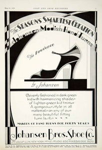 1929 Ad Prudence Shoe Johansen Brothers Saint Louis Theater Typography YBSR1