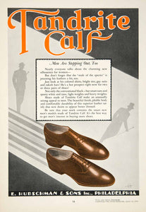 1930 Ad Tandrite Calf Shoes E. Hubschman Sons Men Fashion Philadelphia YBSR1