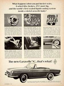 1962 Ad Caravelle S French Import Convertible 2 Door Sports Car Floride YCD1