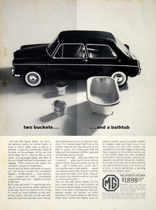 1963 Ad MG Sports Sedan 2 Door Bucket Bathtub 4-Speed British Motors Import YCD2
