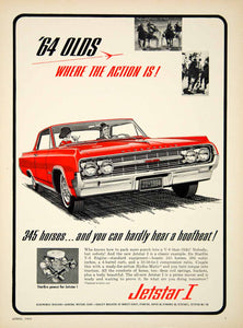 1964 Ad Oldsmobile Jetstar I 2 Door Hardtop Coupe GM Sports Car Full Size YCD3