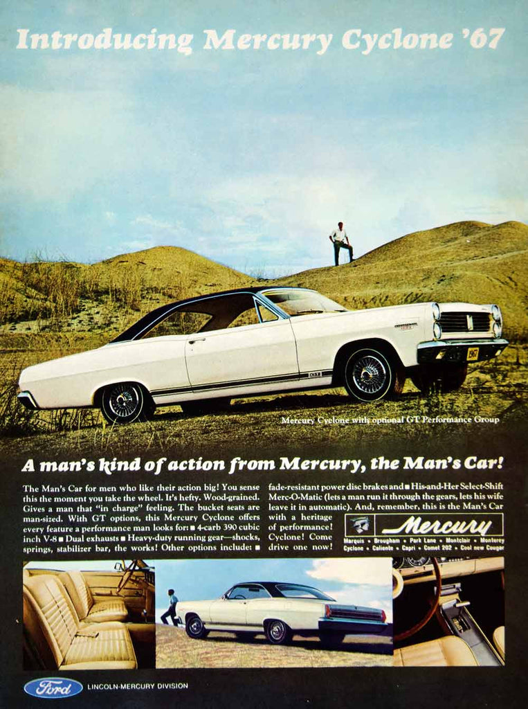 1966 Ad 1967 Mercury Cyclone GT 2Door Coupe Muscle Car 390 V8 Engine ...
