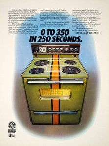 1971 Ad General Electric GE 500XL Range Stove Oven Kitchen Appliance YCD8