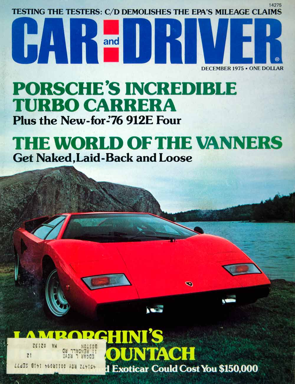 1975 Cover Car Driver 1976 Lamborghini Countach 2 Door Sport Italy Import YCD9