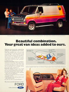 1975 Ad 1976 Ford Econoline Van 3 Door Full Size E-Series 300 CID I6 Engine YCD9