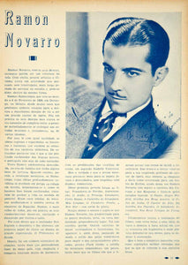 1935 Article Roman Novarro Movie Actor Film Star Hollywood Portuguese YCF1