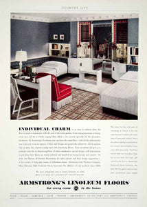 1936 Ad Armstrong Cork No 5470 Linoleum Floors Home Decor Interior Design YCL2