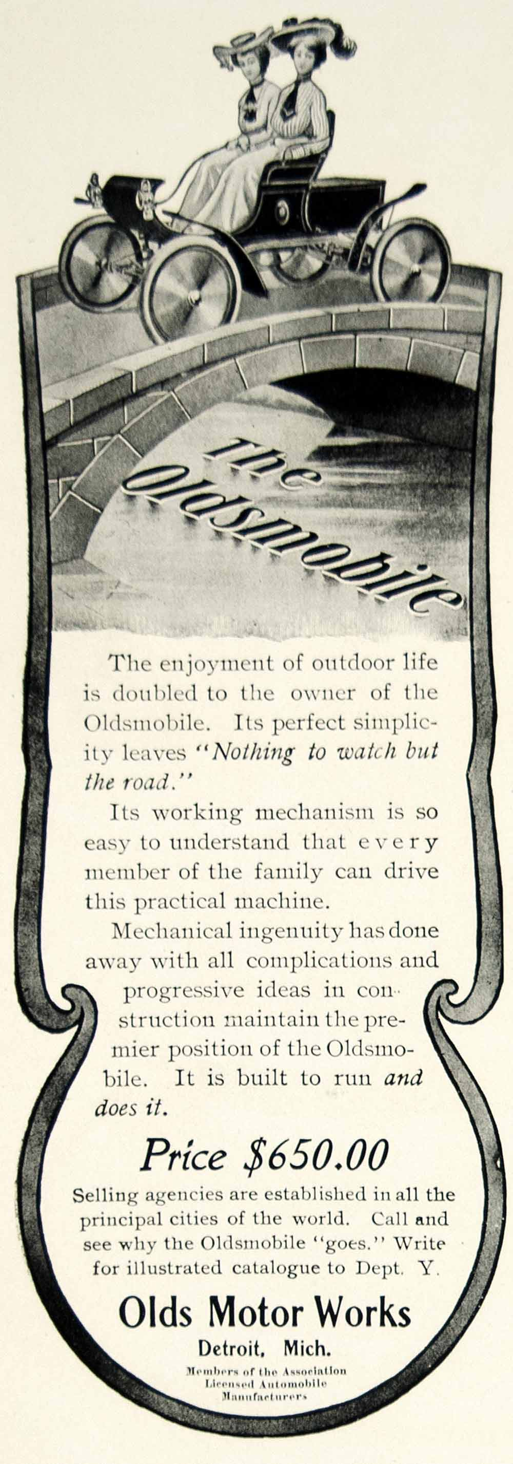 1903 Ad Oldsmobile Brass Era Auto Car Transportation Antique Vehicle YCL2