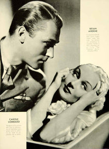 1935 Print Carole Lombard Brian Aherne Actor Actress Movie Star Film YCL3