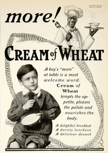 1905 Ad Cream Wheat Child Boy Breakfast Porridge Wheat Cereal Meal Food YDL2