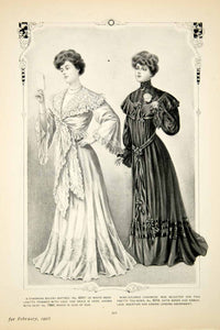 1905 Print Delineator Edwardian Women Art Clothing Fashion Bolero Matinee YDL2