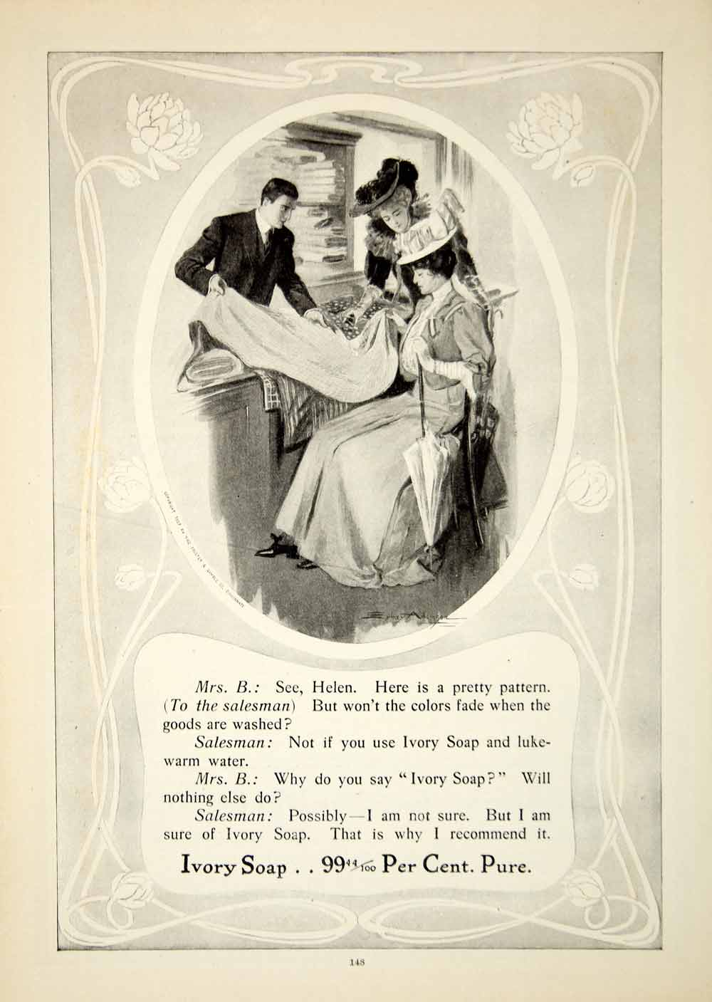 1907 Ad Ivory Soap Clean Victorian Edwardian Women Fashion Health Beauty  YDL4