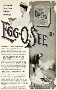 1907 Ad Egg-O-See Breakfast Cereal Company Victorian Edwardian Woman Child YDL4