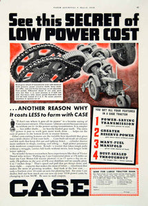 1938 Ad Case Farm Tractor Bevel Gear Transmission Part Machinery Crosswire YFJ1