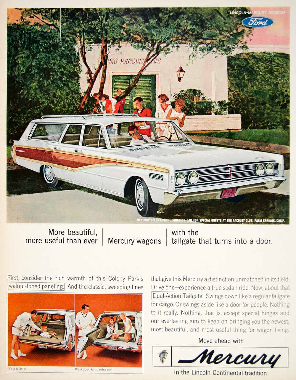 1966 Mercury Colony Park Tailgate Turns Into a Door Vintage Print Ad