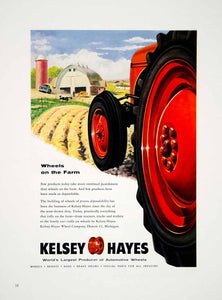 1954 Ad Kelsey Hayes Automotive Wheels Tractor Hubcap Farm Brake Drums YFQ1