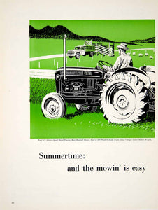 1959 Ad Tractor Summertime Green Ford 671 F-500 Station Wagon McManus YFQ1