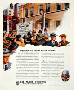 1945 Ad McBee Keysort Luberoff Plant Factory 295 Madison Avenue Accounting YFT2