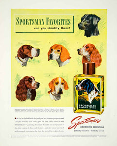 1947 Ad Sportsman Grooming Essentials Dog Labrador Pointer Beagle Spaniel YFT3
