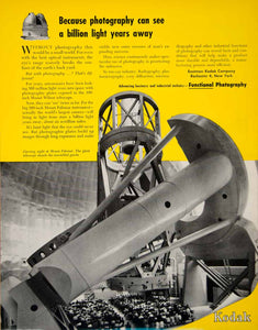 1949 Ad Eastman Kodak Palomar Observatory Hale Telescope Scientific Yellow YFT4