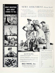 1949 Ad RKO Pathe Farm Film Television Commercial Industry Producer Movie YFT4