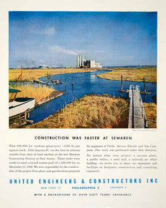 1949 Ad United Engineer Constructor Landscape Sewaren Walker Poor YFT4