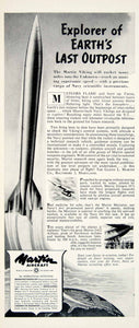 1950 Ad Martin Aircraft Viking Rocket Navy Missile Military Aviation Space YFT5 - Period Paper