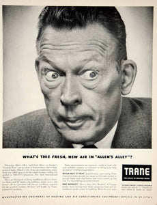 1950 Ad Trane Air Conditioner Appliance Fred Allen's Alley TV Show Comedian YFT6