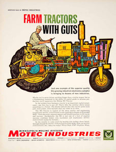 1961 Ad Minneapolis Moline Division Motec Industries Farm Tractor Mechanic YTF8