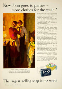 1929 Ad Procter & Gamble White Naphtha Soap Laundry John Peggy Household YGH1 - Period Paper