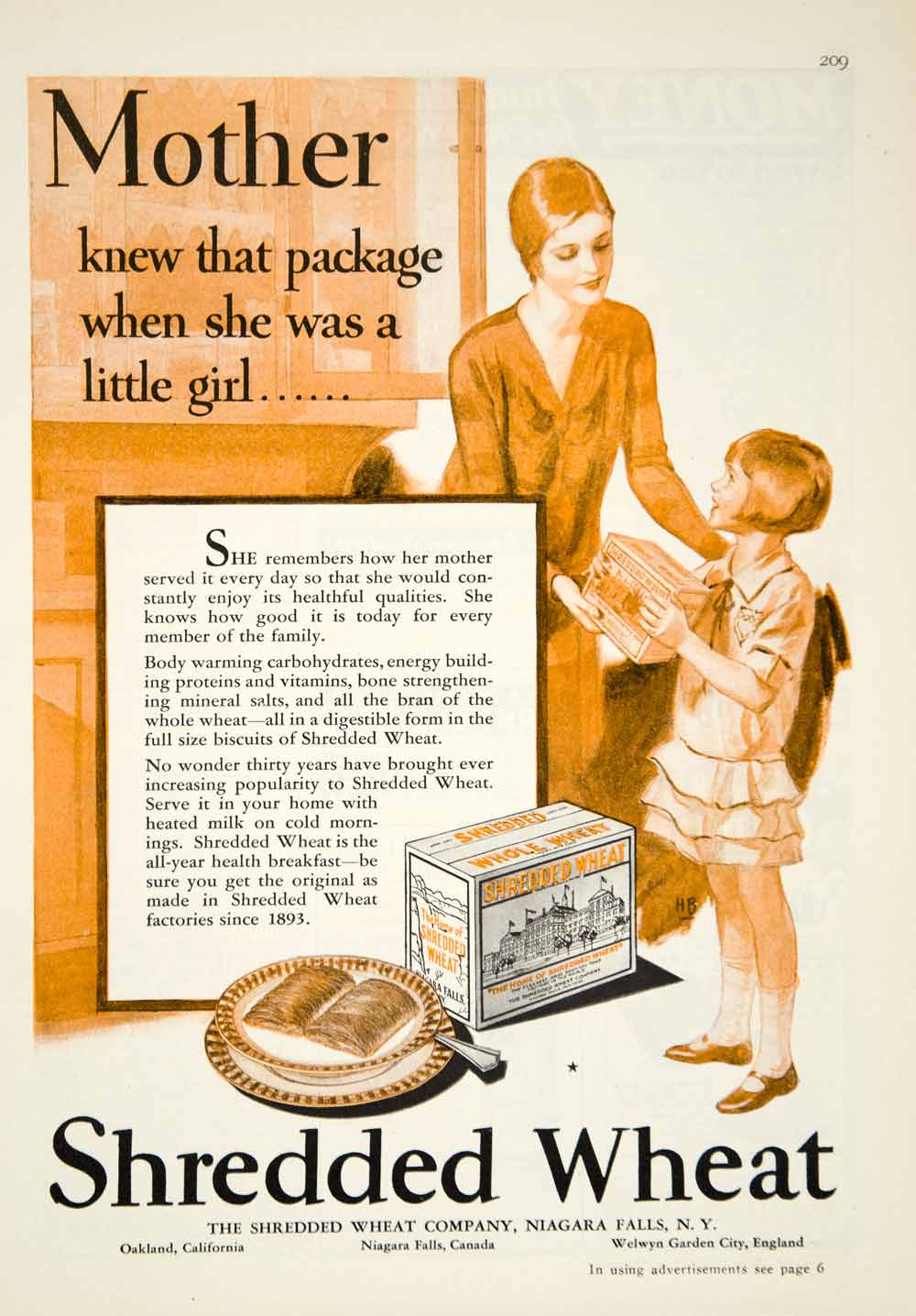 1929 Ad Shredded Wheat Breakfast Cereal Food Art Deco Children Grocery YGH1