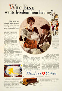 1929 Ad Continental Baking Hostess Cocoanut Layer Cake Alice Adams Proctor YGH1