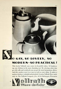 1929 Ad Vollrath Dish Ware Kitchen Household Decor Sheboygan WI Cooking YGH1