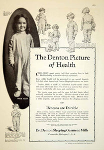 1929 Ad Dr. Denton Sleeping Garment Mills Children Clothing Baby Nightgown YGH3