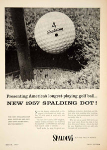 1957 Ad Spalding Dot Golf Ball Athletics Sporting Goods Equipment Hole YGM1
