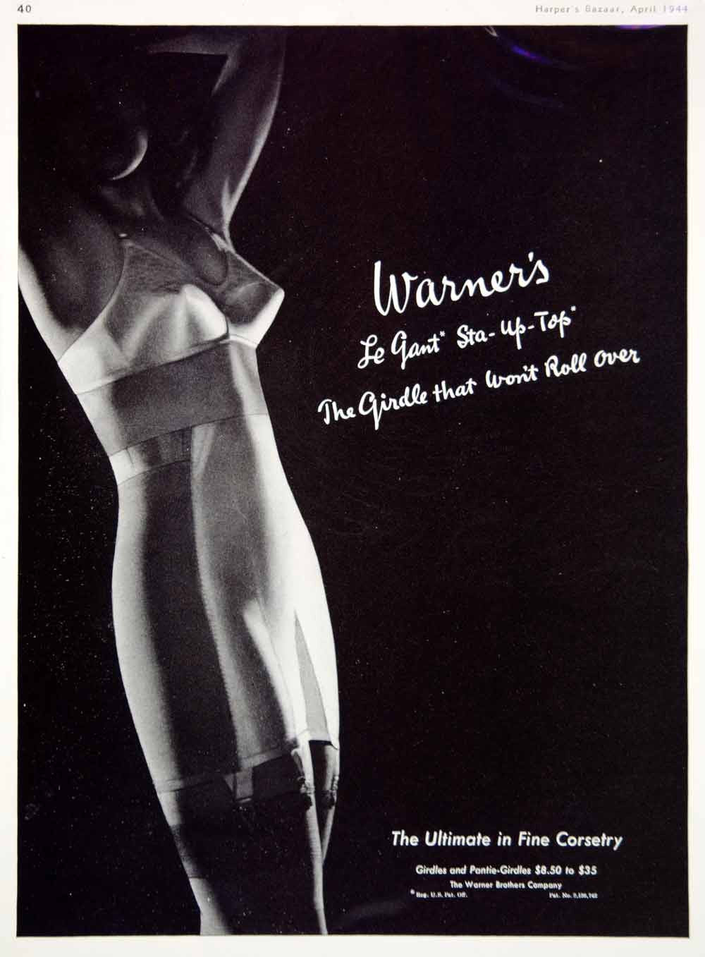 1944 Ad Vintage Warner Le Gant Girdle Corset Foundation Garments Risque YHB4 - Period Paper
