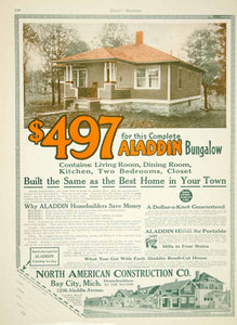1916 Ad Aladdin Bungalow Home House North American Construction YHM2