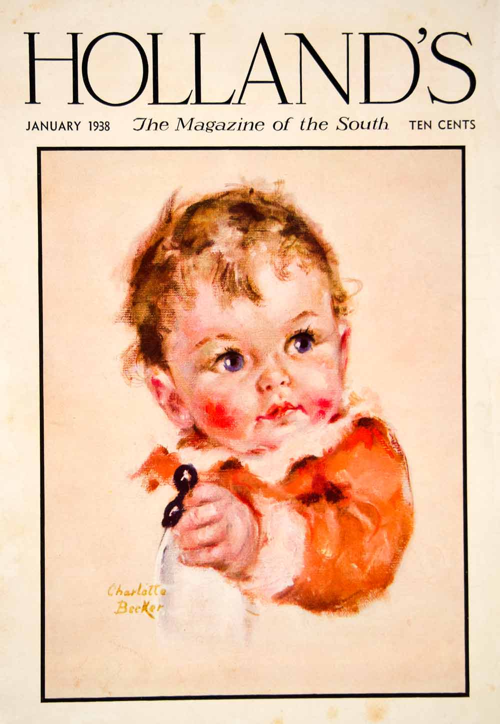 1938 Cover Charlotte Becker Hollands Baby New Year Infant Brave New World YHM3