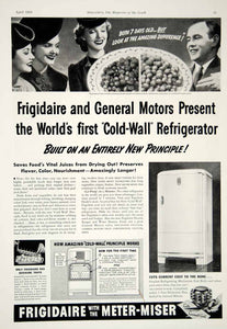 1939 Ad Cold Wall Refrigerator Frigidaire General Motors Household Ice Tray YHM3