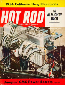 1954 Cover Hot Rod Bob D'Olivo Roger Huntington Engine Motor Automotive GMC YHR1