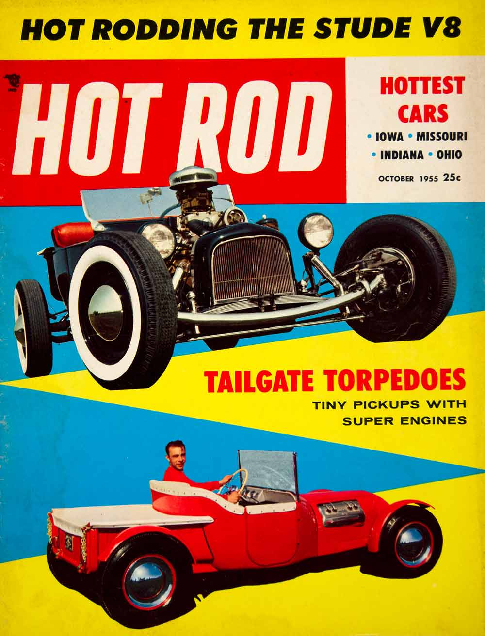 1955 Cover Hot Rod Bob D'Olivo Peter Sukalac Roadster Automobiles Car YHR1