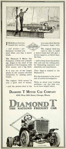 1919 Ad Diamond T Freight Motor Car 4505 West 26th St Chicago IL YLD2