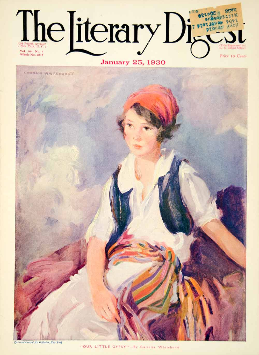1930 Cover Literary Digest Gypsy Child Costume Fashion Kid Camelia YLD6  sc 1 st  Period Paper : gypsy kid costume  - Germanpascual.Com