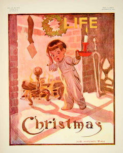 1909 Cover Life James Montgomery Flagg Art Christmas Holiday Children Xmas YLF4