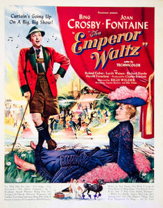 1948 Ad Emperor Waltz Movie Film Bing Crosby Joan Fontaine Paramount Music YLK1