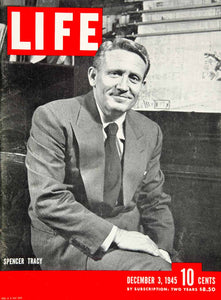 1945 Cover LIFE Magazine Spencer Tracy Stage Movie Actor Portrait Eileen YLMC1