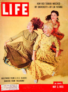 1955 Cover LIFE Magazine Oklahoma Movie Dancers Dance Agnes de Mille J R YLMC2